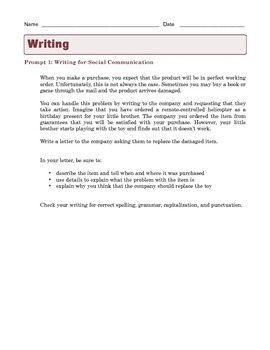 Grade 7 Common Core Writing Prompts Bundle