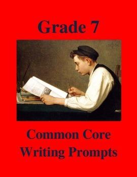 Grade 7 Common Core Writing Prompts Bundle
