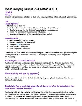 Grade 7 Cyberbullying Unit Lesson 3