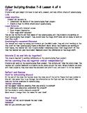 Grade 7 Cyberbullying Unit Lesson 4