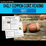Grade 7 Daily Common Core Reading Practice Week 27
