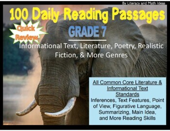 Grade 7 Daily Common Core Reading Practice Weeks 1-20
