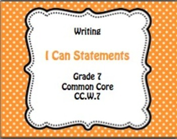 Grade 7 ELA Common Core I Can Statements