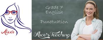Grade 7 English -  Punctuation