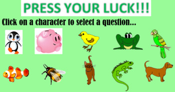 Grade 7 - Expressions and Equations Review Game