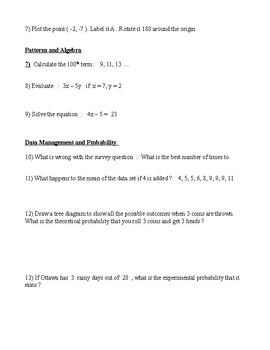 Grade 7 Final Exam ( brief )