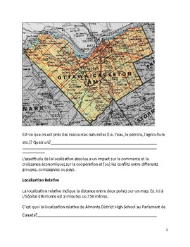 Grade 7 French Geography - Geographie Physique