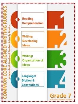 Grade 7: Teacher/Student Friendly Common Core/PARCC Aligned Writing Rubrics