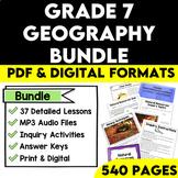 Grade 7 Geography Bundle Ontario Curriculum