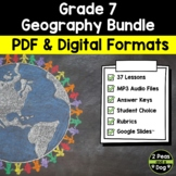 Grade 7 Geography Bundle Ontario Curriculum