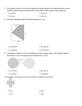 Grade 7 HOTS, Mathematical Olympiad, IMO, AMC Worksheet