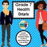 Grade 7 Health Ontario Curriculum 2019 Updated