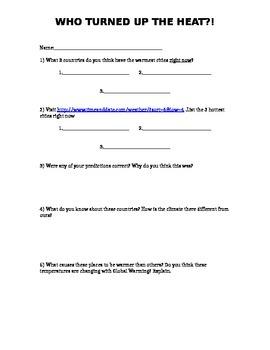 Grade 7 Heat Worksheet