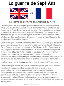 Grade 7 History Units 1713-1850 French Edition