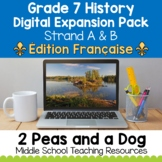 Grade 7 History Units Digital Expansion Pack FRENCH