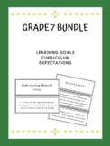 """Grade 7 """"I Can..."""" Curriculum Expectations"""