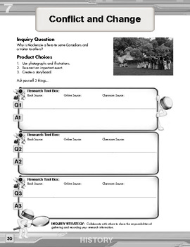 Grade 7 Inquiry Questions - History