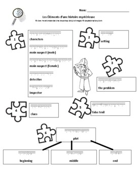 Grade 7 (Level 6) Solving a Mystery: Elements of a Mystery Student Handout