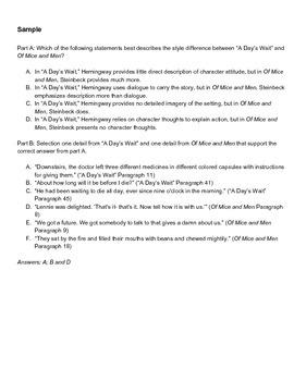 Grade 7 Literary Analysis Performance-Based Assessment with Hemingway