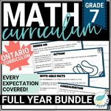 Grade 7 Math Unit Bundle: Entire Year of Math (3-part lessons)
