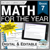 Math Unit Bundle: Entire Year of Math (3 part lessons) - G