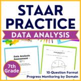 7th Grade Math STAAR Test-Prep Set 6: Data Analysis