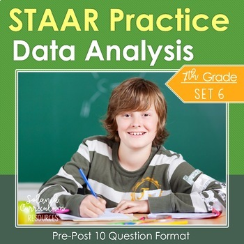 Grade 7 Math STAAR Practice Tests {DATA ANALYSIS} Tables G