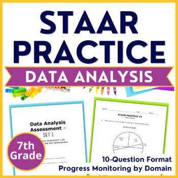 7th Grade Math STAAR Test Prep - Data Analysis & Graphs -