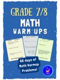Grade 7 Math Class Warm-Up Problems