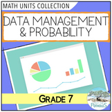 Data Management and Probability Math Units BUNDLE (Graphing) (Grade 7)