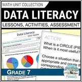 Data Management Math Unit: Collect & Organize Data (Graphing) - Grade 7