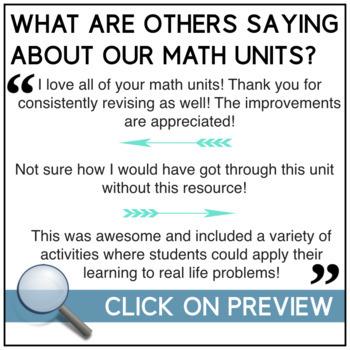 Data Management Math Unit: Data Relationships (Graphing) - Grade 7