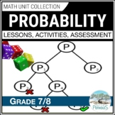 Probability Unit - Data Management - Grade 7 Math Unit