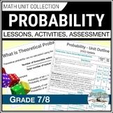 Probability Unit - Data Management - Grade 7 Math Unit