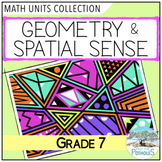 Geometry Math Unit Bundle: Transformational and Geometric Properties (Grade 7)