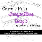 Grade 7 Math Inequalities Day 3