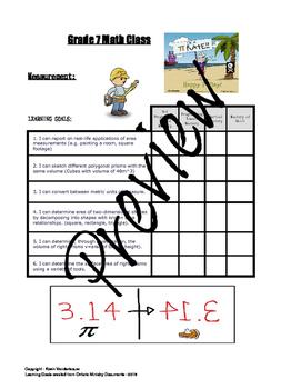 Grade 7 Math Learning Goals
