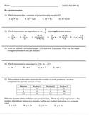 Grade 7 Math PARCC PBA Homework Reviews