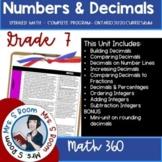 Grade 7 Math Plans Unit 1 - Decimals, Integers (Ontario Ma