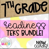 Grade 7 Math STAAR Readiness TEKS Task Cards BUNDLE!