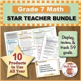 Grade 7 Math STAR TEACHER BUNDLE (Communication, Review, Tracking)