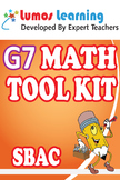 Grade 7 Math Tool Kit for Educators, SBAC Edition