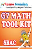Grade 7 Math Tool Kit for Educators, SBAC Edition