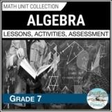Algebra Unit (Equations & Inequalities - C2) - Grade 7 Math unit - 2020 Ontario