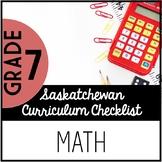 Grade 7 Mathematics - Saskatchewan Curriculum Checklist
