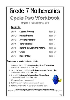 Grade 7 Mathematics Workbook 2