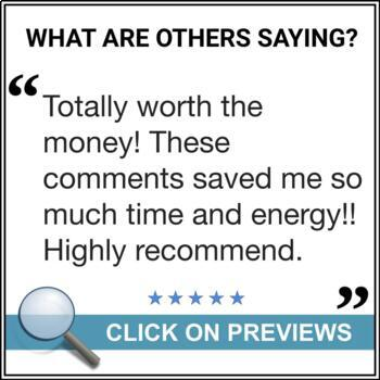Report Card Comments - Ontario Grade 7 Science - EDITABLE
