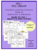 Grade 7 Model Curriculum Unit 2 - Expressions & Equations Bundle