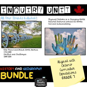 Grade 7 Ontario History and Geography Bundle