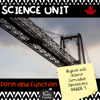 Grade 7 Ontario Science Unit: Form and Function